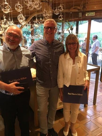 Paul Harris Fellows: Anna Ravizza und Hansruedi Moser